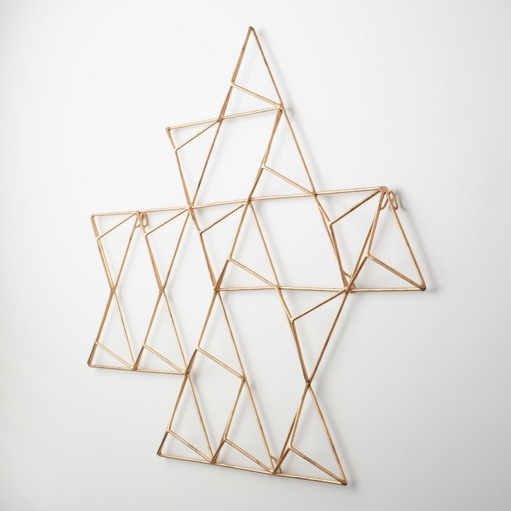 Abstract Geometric Metal Wall Art In Widely Used Pretty Design Ideas Geometric Metal Wall Art With Jaxon Triangle (View 15 of 15)