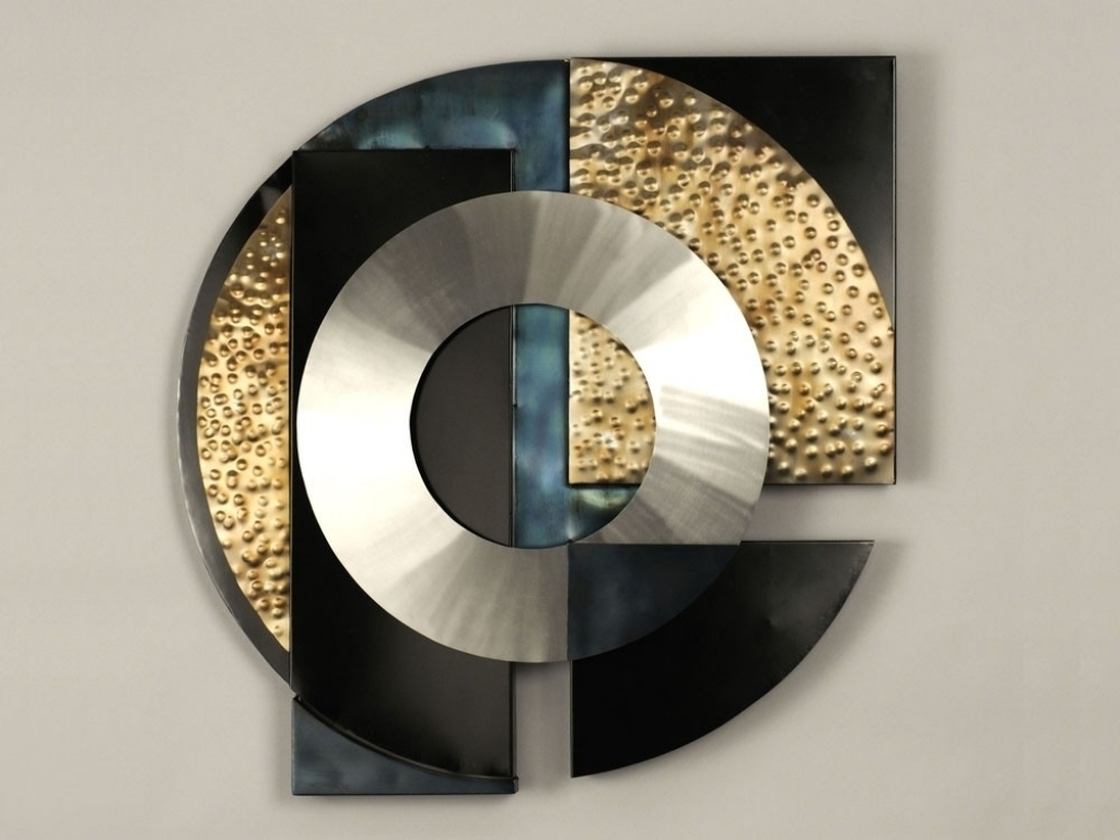Abstract Geometric Metal Wall Art Throughout Famous Perfectly Decorate Your Home With Geometric Metal Wall Art (View 9 of 15)