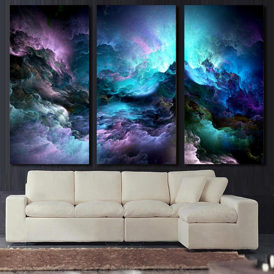 Abstract Graphic Wall Art For 2018 Atfipan Wall Art Canvas Painting 3p Abstract Graphics Psychedelic (View 6 of 15)