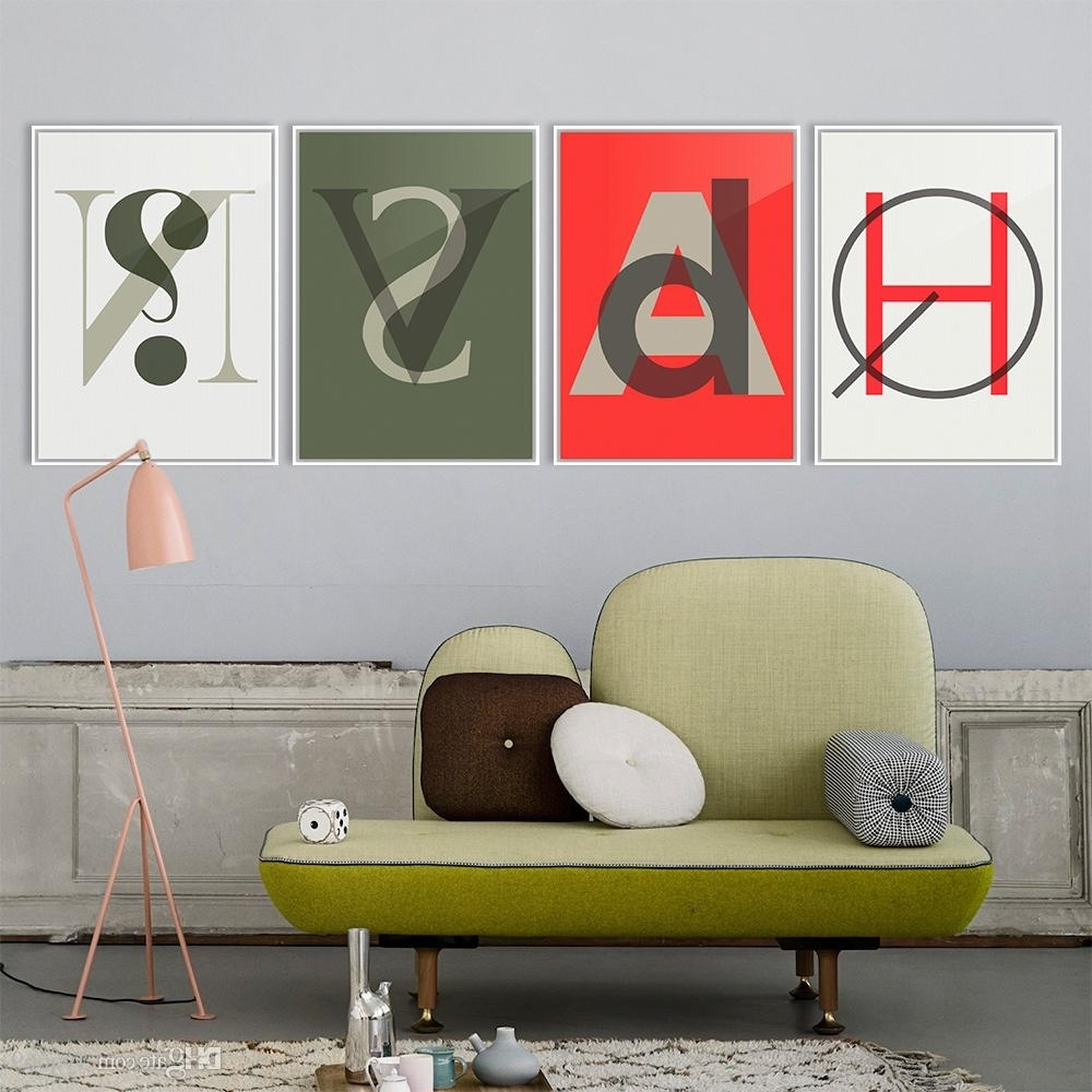 Abstract Graphic Wall Art Intended For Most Recently Released 2018 Minimalist Letter Abstract Graphic Pop Large Poster Print (View 7 of 15)