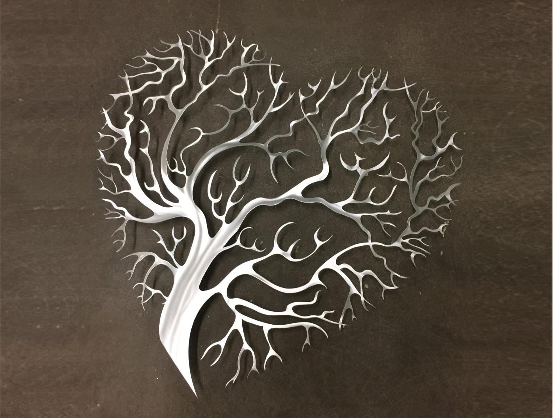 Abstract Heart Wall Art Inside Newest Wall Art Design: Iron Wall Art Decor Tree Heart Metal Wall Art (Gallery 4 of 15)