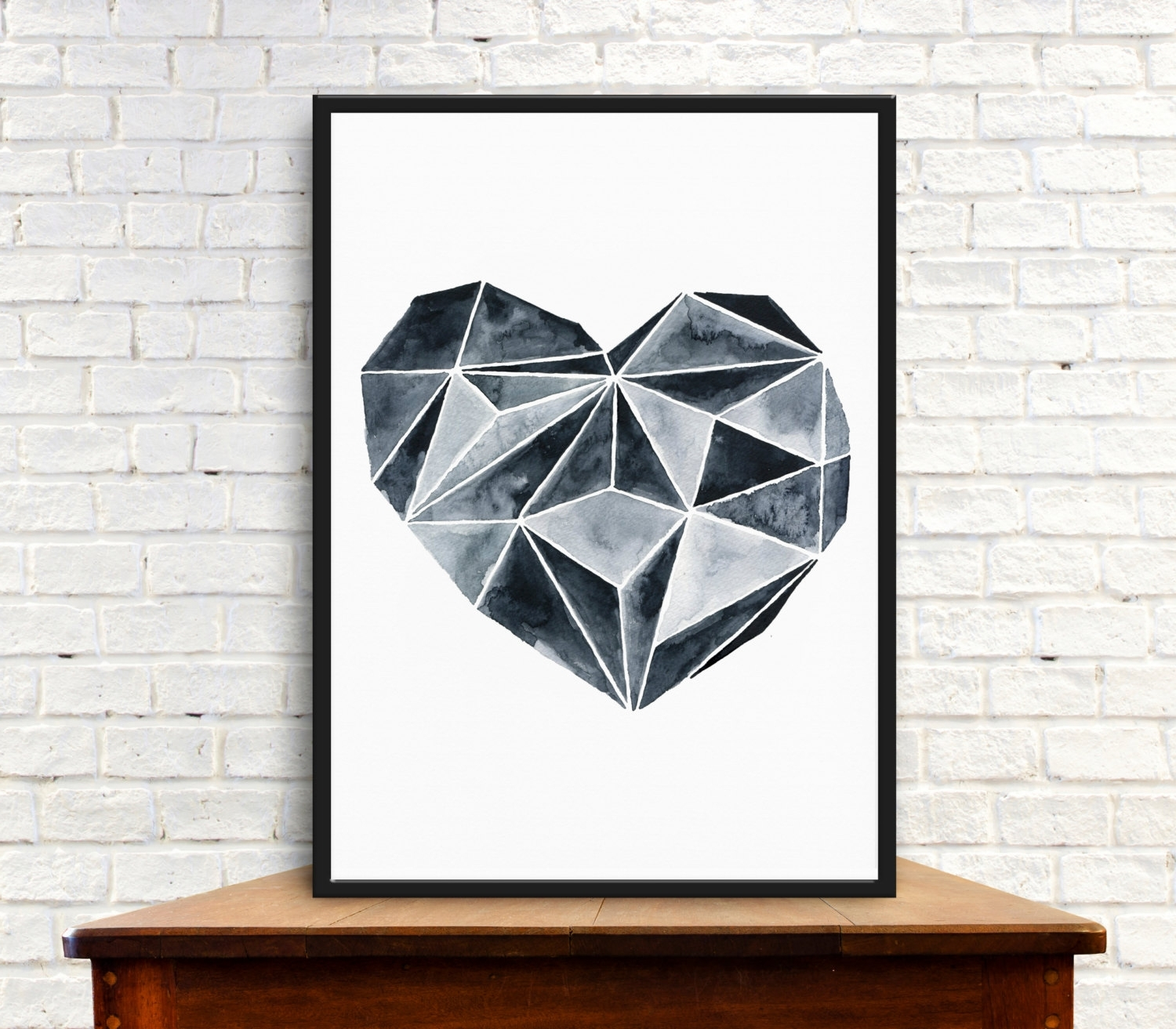 Abstract Heart Wall Art Within Most Up To Date Wall Art Print, Digital, Instant Download, Original Watercolor (View 7 of 15)
