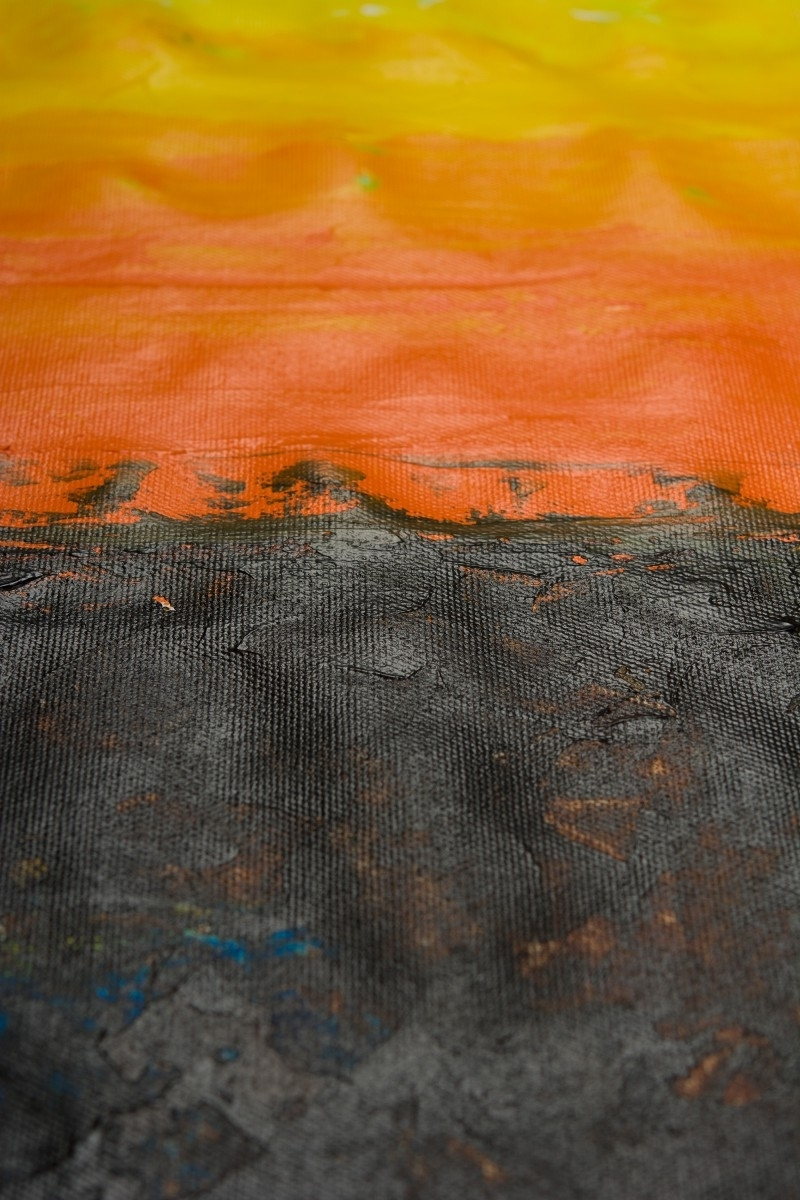 """Abstract Horizon Wall Art With Well Liked The Horizonqiqigallery 60""""x36"""" Un Stretched Canvas Original (View 7 of 15)"""