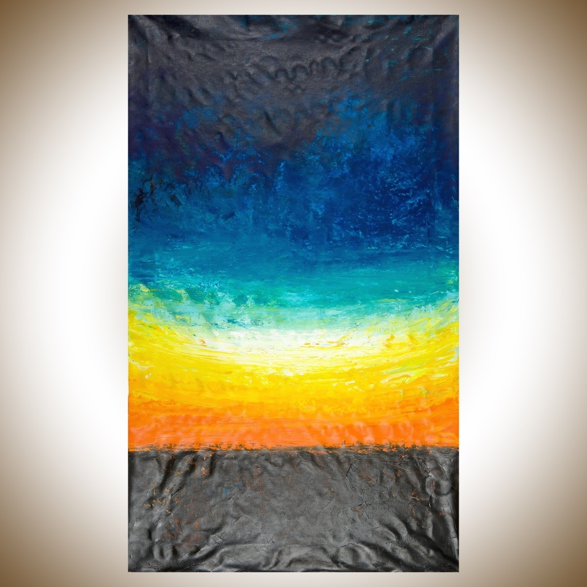 """Abstract Horizon Wall Art Within Preferred The Horizonqiqigallery 60""""x36"""" Un Stretched Canvas Original (View 2 of 15)"""