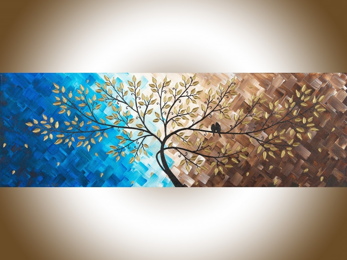 "Abstract Landscape Wall Art For Favorite Beautiful Loveqiqigallery 36"" X 12"" Original Modern Abstract (Gallery 9 of 15)"