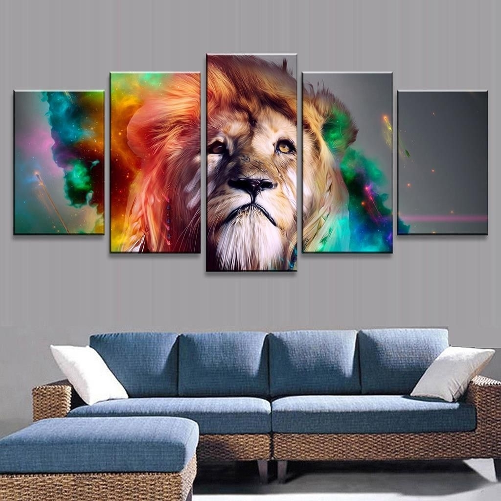 Abstract Lion Wall Art For Popular This Stunning Lion Wall Canvas Painting Is Bold And Eye Catching (View 11 of 15)