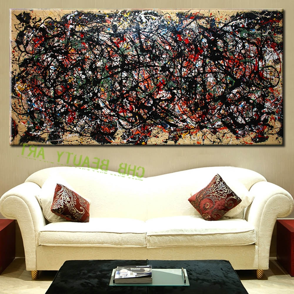 Abstract Living Room Wall Art For Best And Newest The Most Famous Large Canvas Painting Abstract Art Wall Pictures (View 2 of 15)