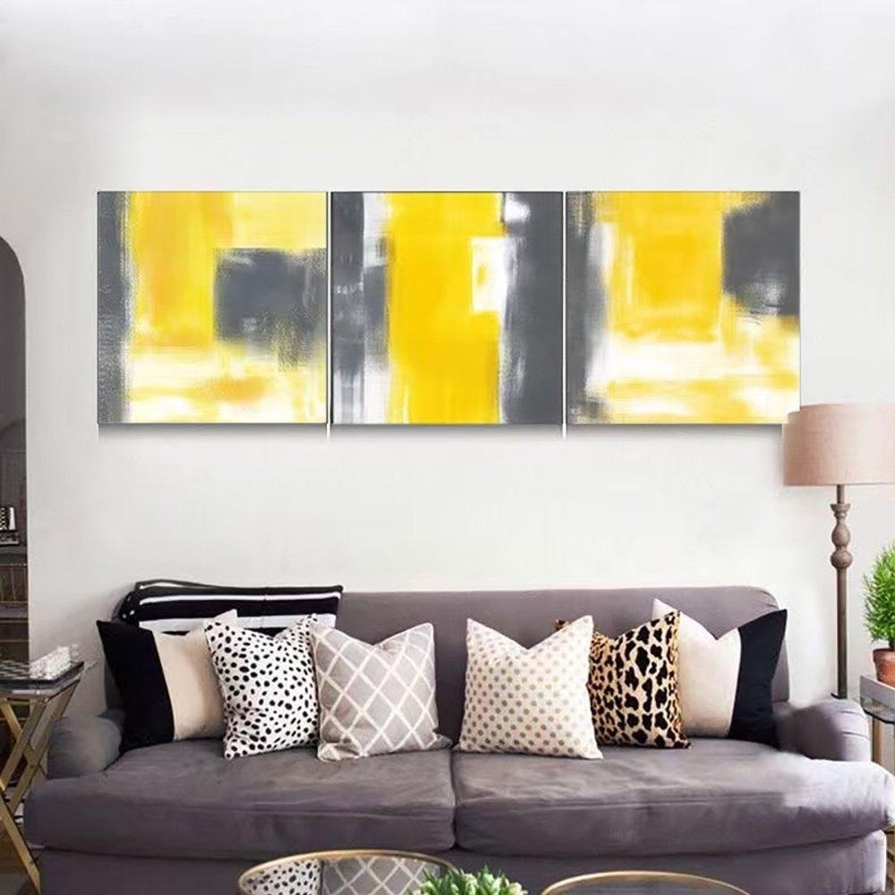 Abstract Living Room Wall Art Inside Preferred Vv Art Chinese Style Abstract Contemporary Painting Canvas Modern (View 4 of 15)