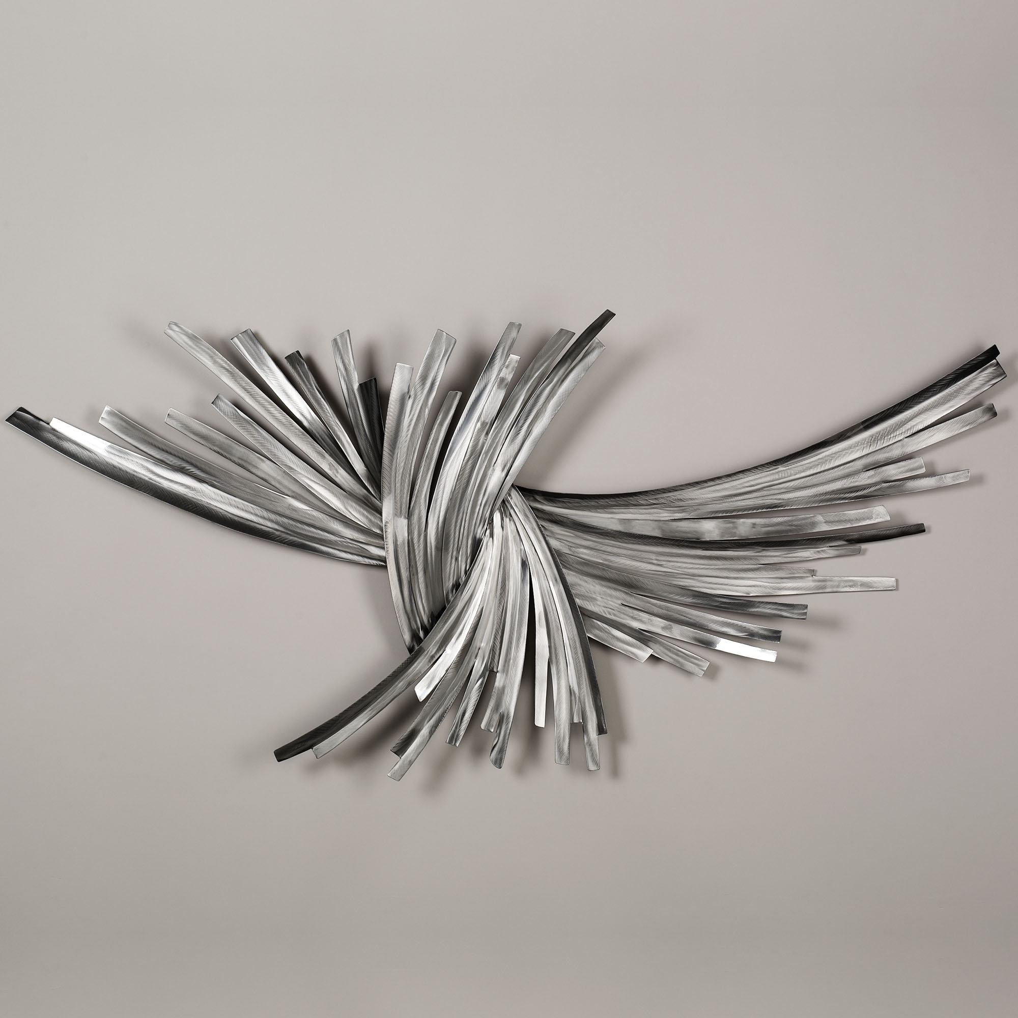 Abstract Metal Sculpture Wall Art Within Fashionable Infinity Silver Metal Wall Sculpture (View 5 of 15)
