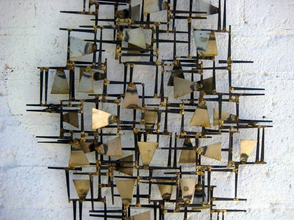 Abstract Metal Wall Art Sculptures Intended For Current Wall Art Designs: Wall Metal Art A Vintage 1960S Hand Wrought (View 3 of 15)