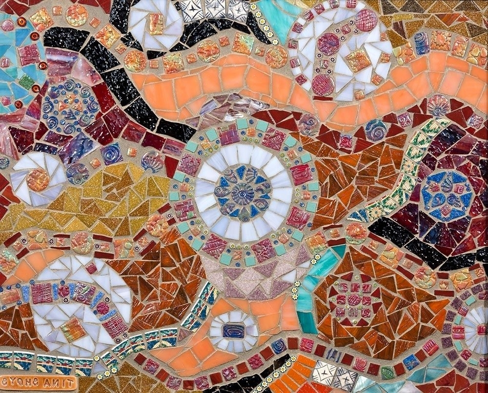 Abstract Mosaic Art On Wall Intended For Latest Hand Made Mosaic Wall Arttina Shoys, Mosaic Artist (View 3 of 15)