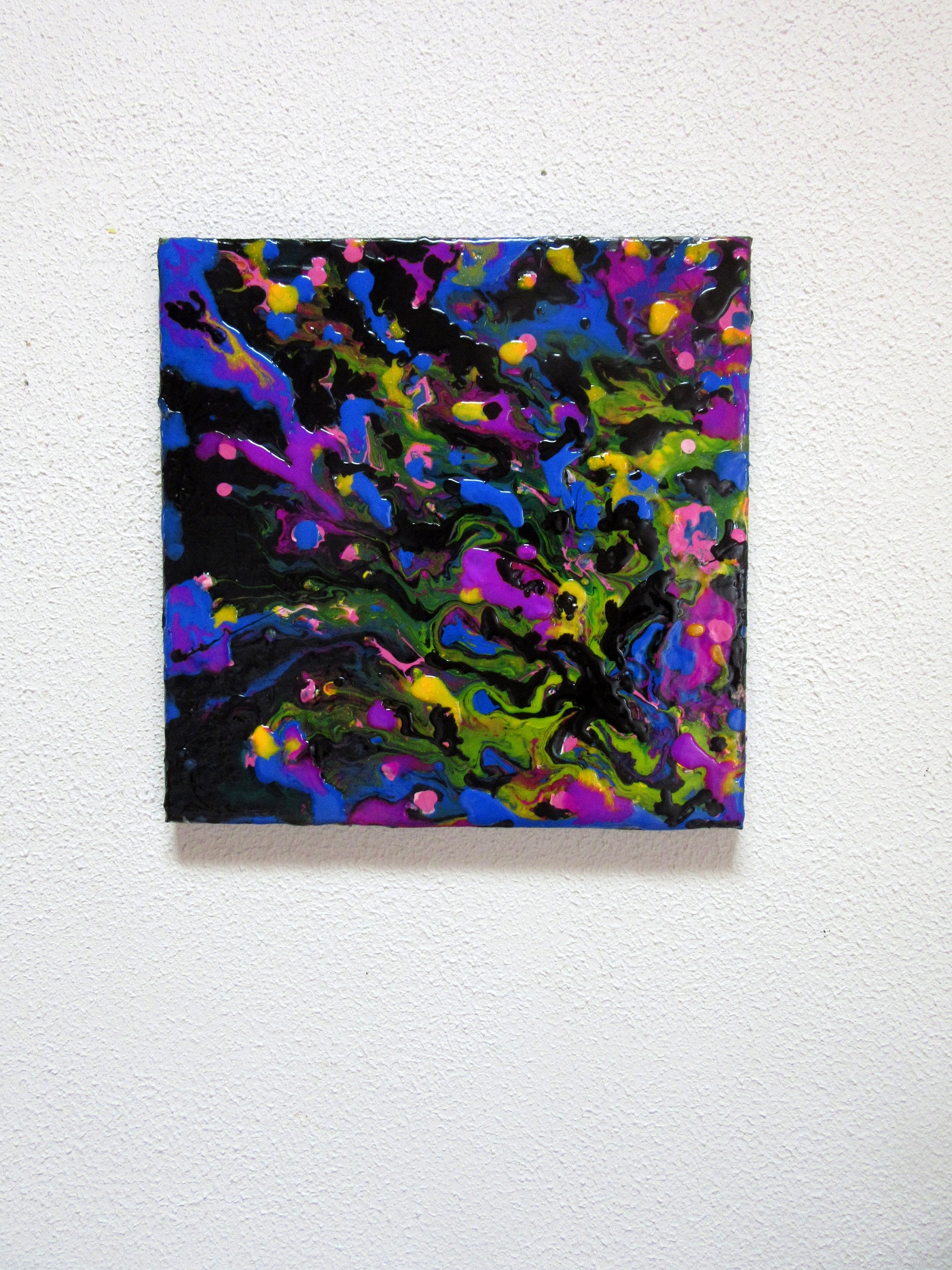 Abstract Neon Wall Art Throughout Widely Used 12 X 12 Art, Fluid Acrylic Painting, Liquid Painting, Colorful (View 2 of 15)
