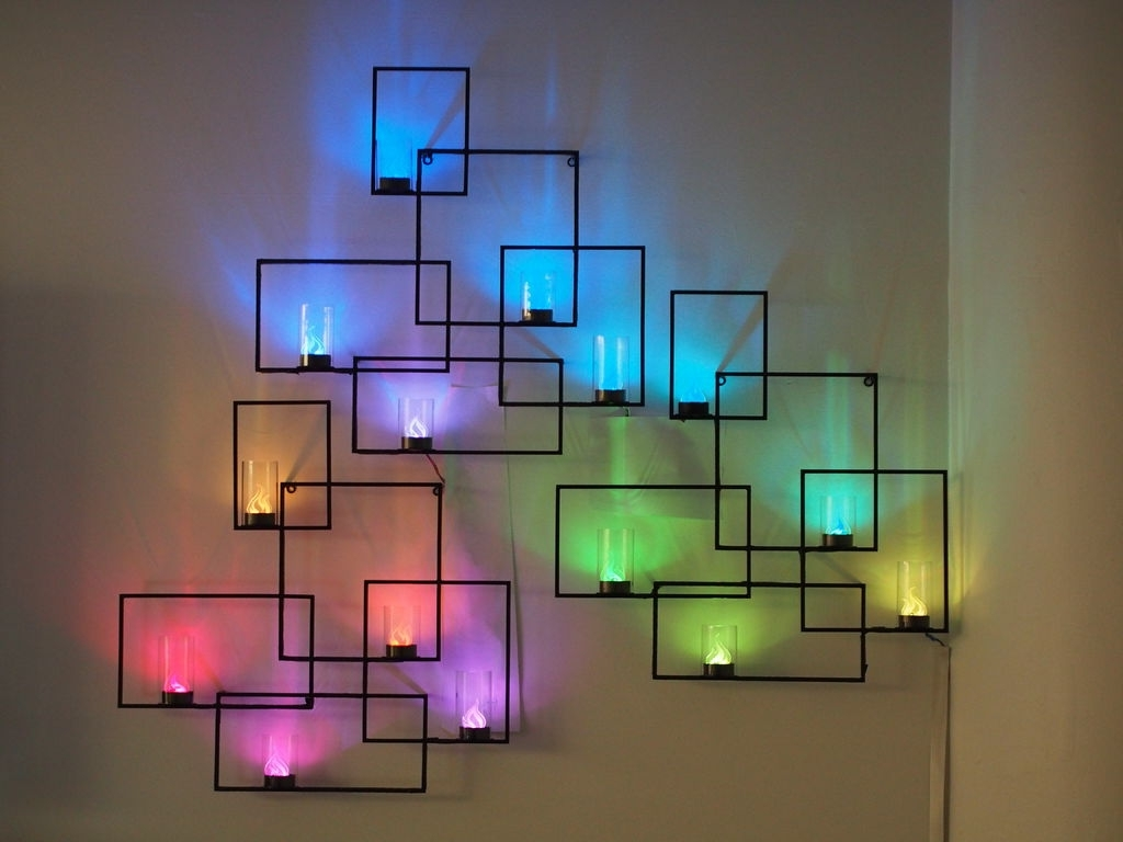 Abstract Neon Wall Art With Best And Newest Wall Sconces With Hidden Weather Display And Tangible User (View 7 of 15)