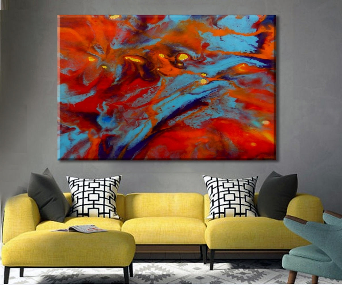Abstract Oversized Canvas Wall Art Intended For Best And Newest Oversize Art Print, Colorful Art, Large Canvas Print, Abstract (Gallery 9 of 15)