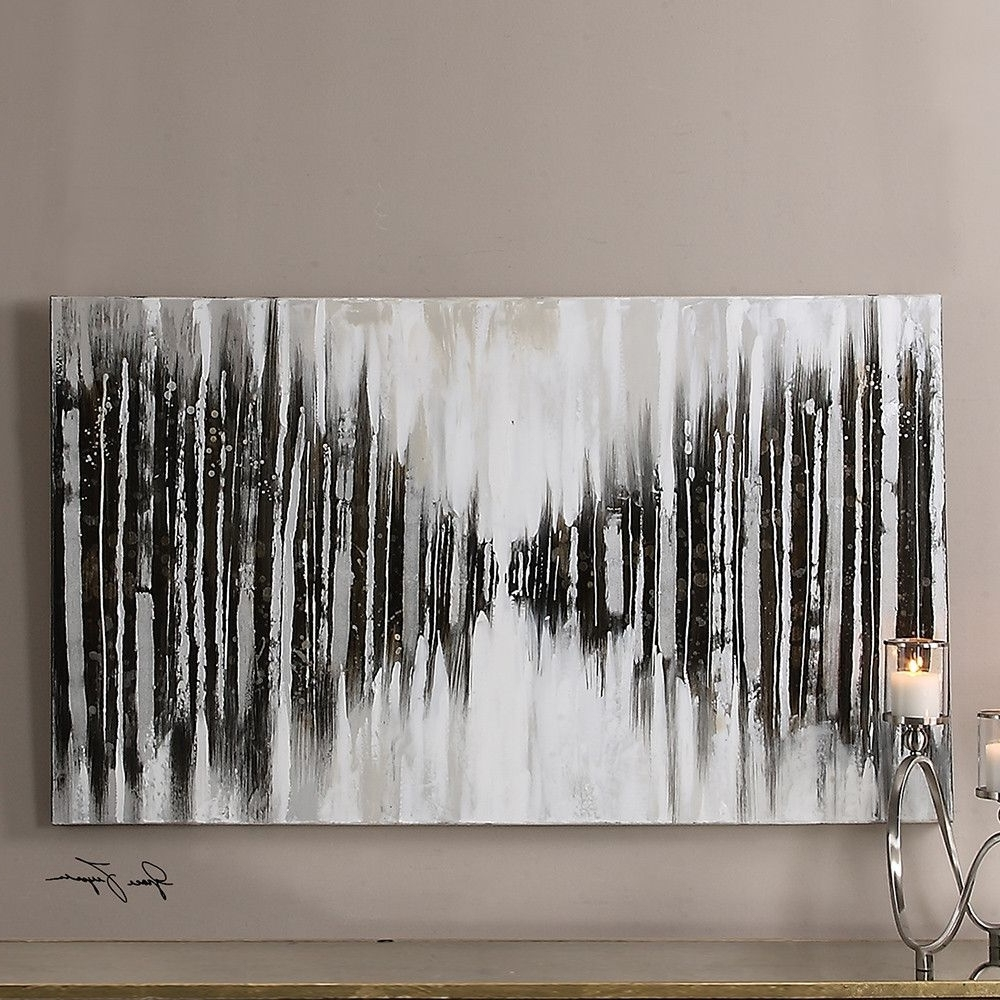 Abstract Oversized Canvas Wall Art Regarding Preferred Oversized Abstract Wall Art – Black And White (View 4 of 15)