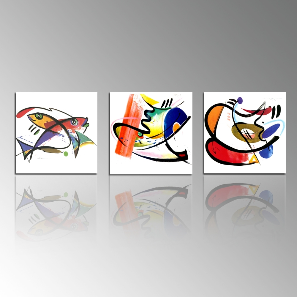 Abstract Painting Print On Canvas Fish Picture Printing Kitchen Within 2018 Abstract Fish Wall Art (View 3 of 15)