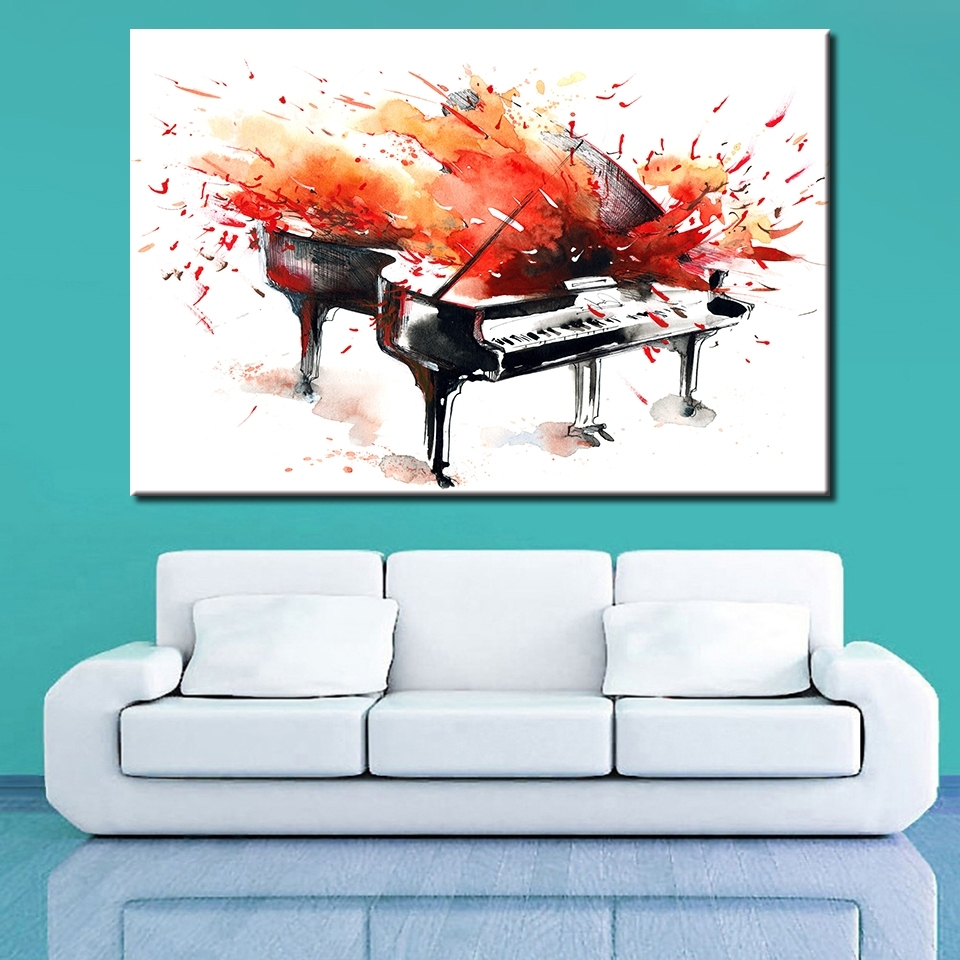 Abstract Piano Wall Art Regarding Most Current Buy Abstract Piano Art And Get Free Shipping On Aliexpress (View 5 of 15)