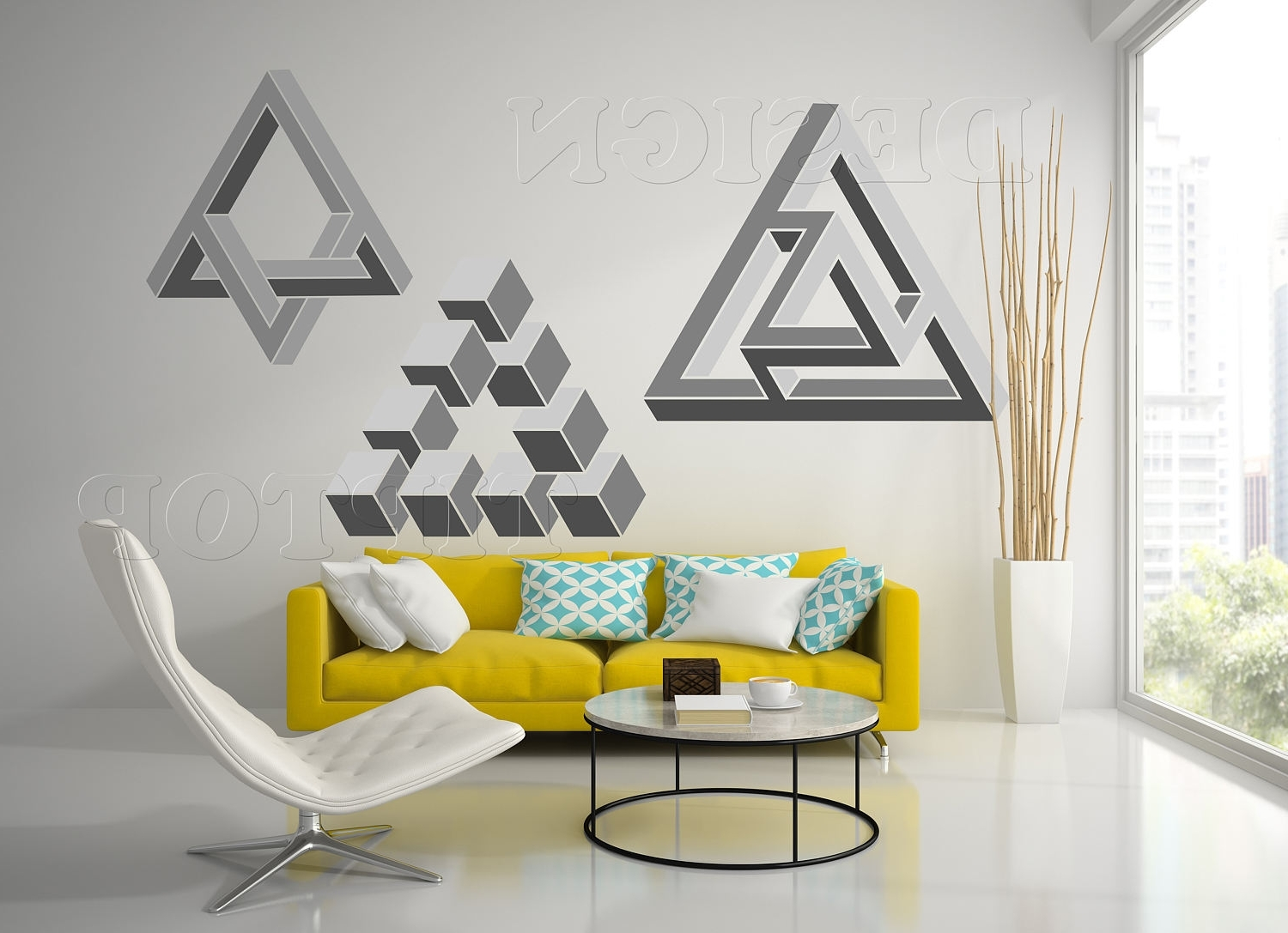 Abstract Wall Art 3D Intended For Most Popular Optical Illusion, 3D Wall Art, 3D Svg, Geometric Wall Art (View 2 of 15)