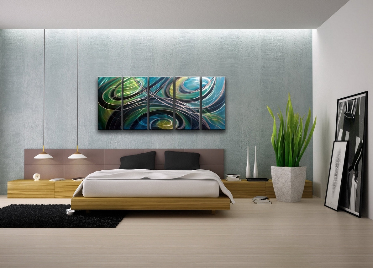 Abstract Wall Art For Bedroom Pertaining To Trendy Contemporary Wall Art Decor Colors (View 6 of 15)
