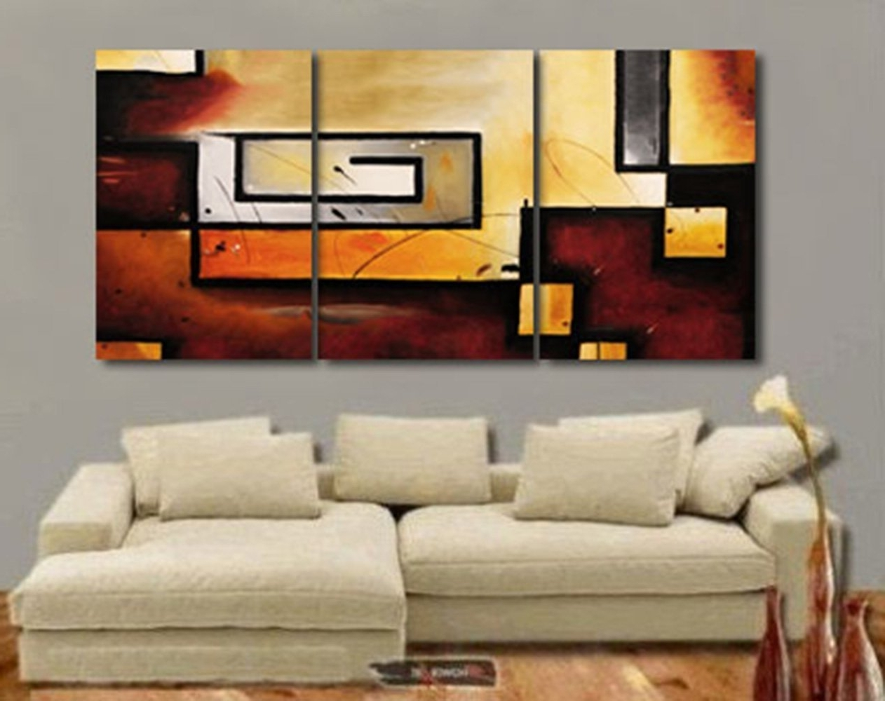 Abstract Wall Art For Dining Room Inside Most Current Amazon: Art Wall Abstract Modern Gallery Wrapped Canvas Art (View 13 of 15)