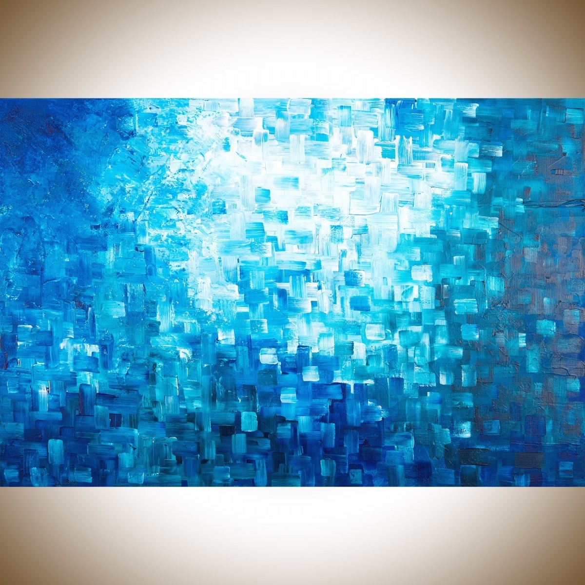 "Abstract Wall Art For Office In Recent Healingqiqigallery 36""x24"" Stretched Canvas Original Modern (View 3 of 15)"