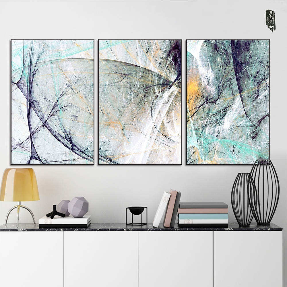 Abstract Wall Art Posters Inside Current Landscape Abstract Canvas Paintings Modern Wall Art Poster And (View 2 of 15)