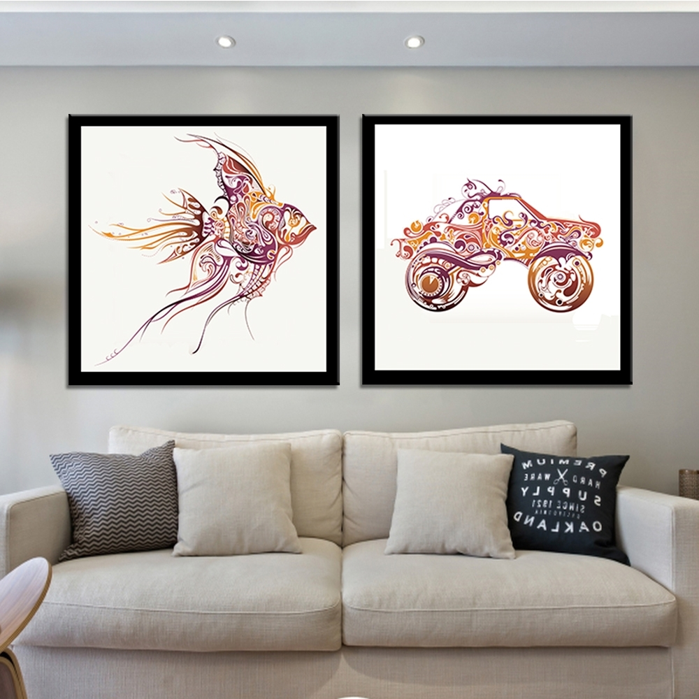 Abstract Wall Art Posters With Regard To Well Liked Frameless Cock High Heels Canvas Painting Abstract Wall Art (View 5 of 15)