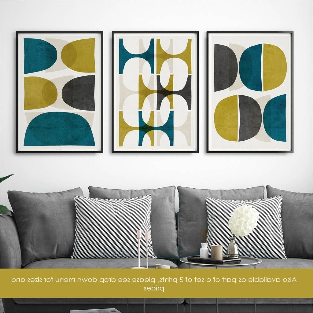 Abstract Wall Art Print Teal Wall Artbronagh Kennedy – Art Regarding Well Known Abstract Wall Art Prints (View 3 of 15)