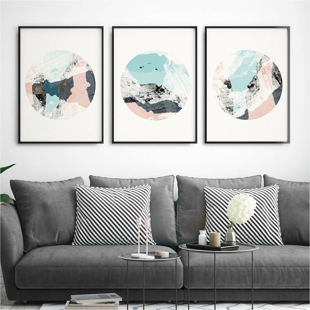 Abstract Wall Art Prints Pertaining To Most Up To Date Set Of Three Abstract Wall Art Printsbronagh Kennedy – Art (View 5 of 15)