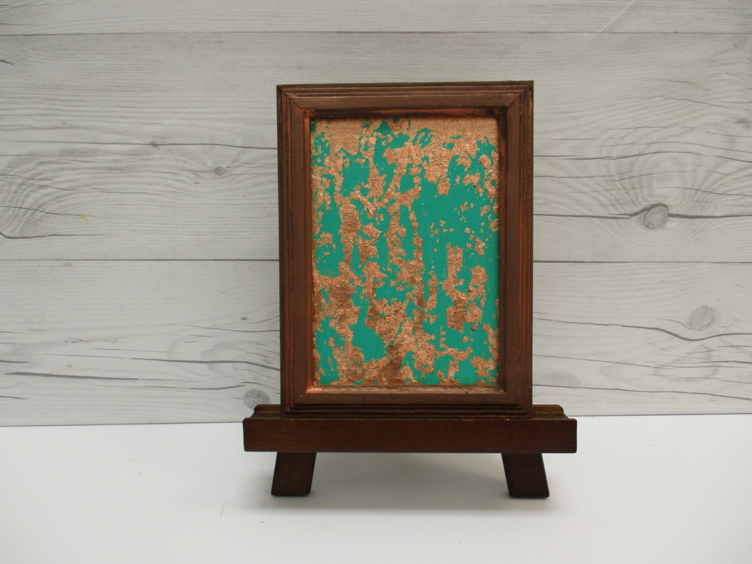 Affordable Framed Wall Art Pertaining To Recent Copper Wall Art, Copper Leaf, Emerald Green Abstract, Green (Gallery 5 of 15)