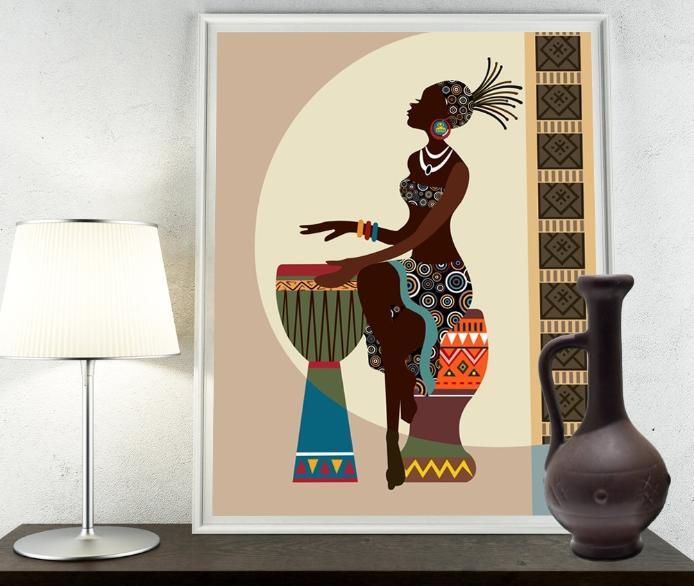 African Art, African American Wall Art, African Woman, African Art Inside 2018 African American Wall Art And Decor (View 5 of 15)
