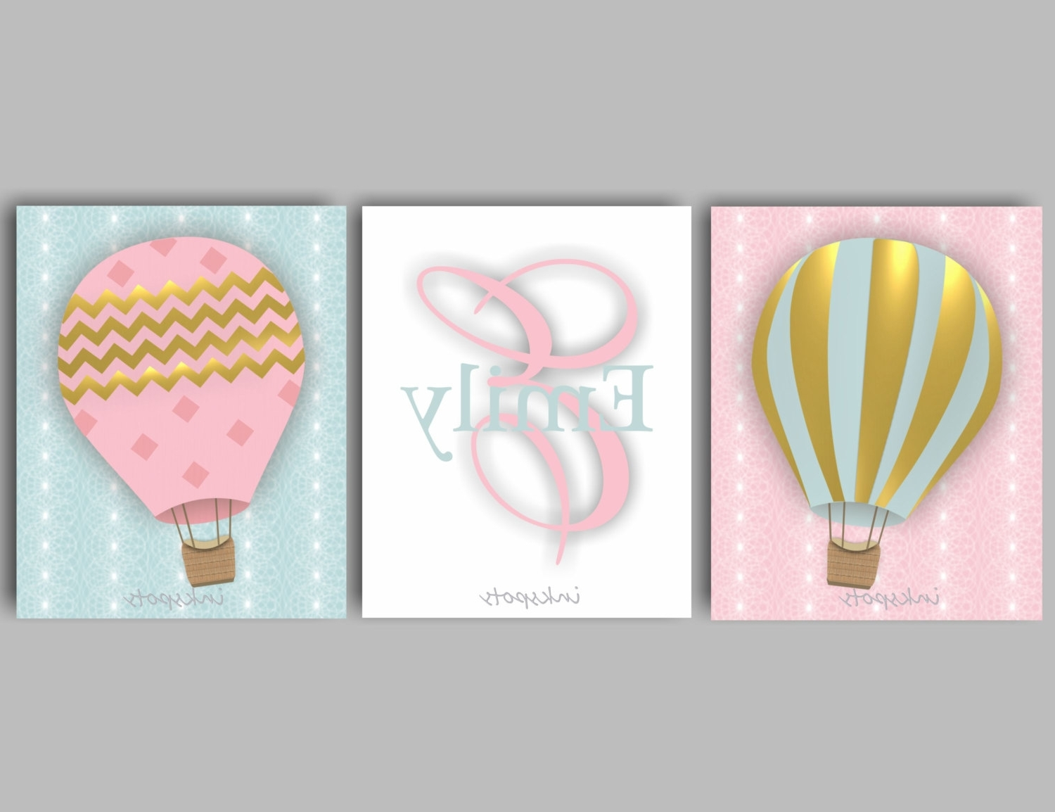 Air Balloon 3d Wall Art Regarding Newest Charming Inspiration Hot Air Balloon Wall Art 3d Metal Canvas (View 8 of 15)