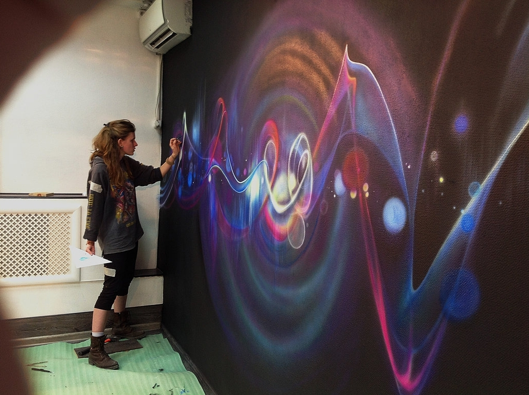 Airbrush Wall Art In Trendy Wall Painting (Airbrush + Brush)Aelitadir On Deviantart (View 2 of 15)