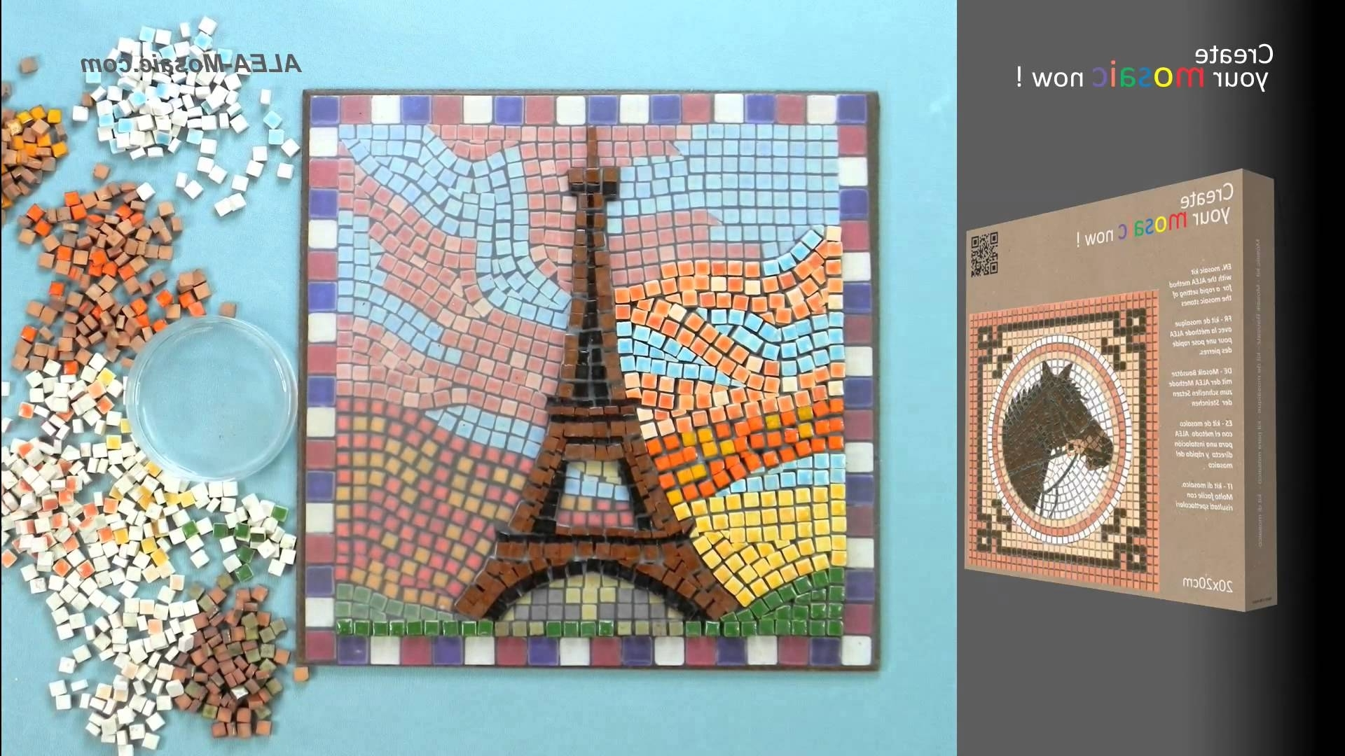 Alea Mosaic – Mosaic Kit 7'' Square, 20X20Cm, – Youtube With Regard To Well Liked Mosaic Art Kits For Adults (View 1 of 15)