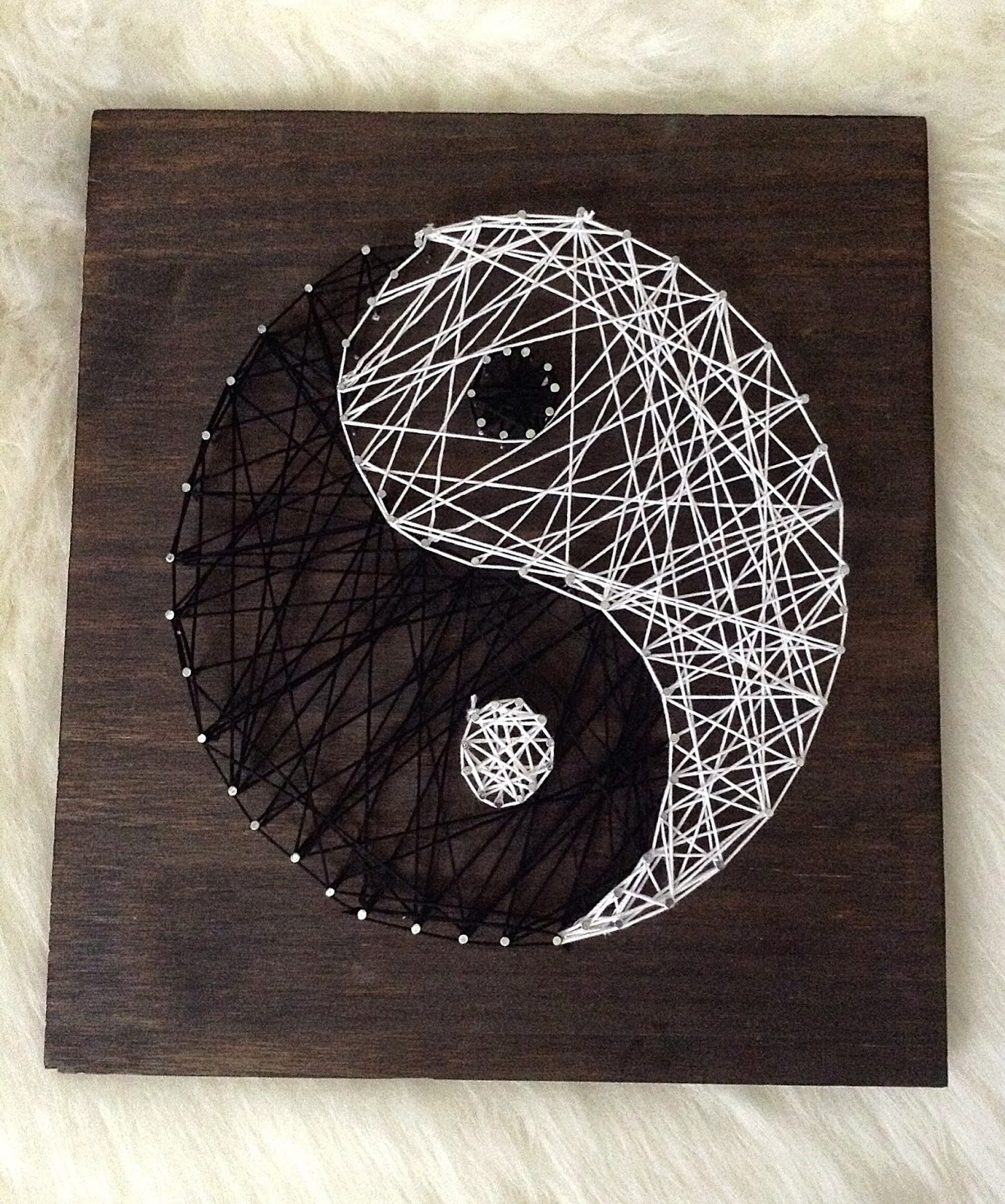 All Things Lovely: Diy  Yin Yang String Wall Art (View 1 of 15)