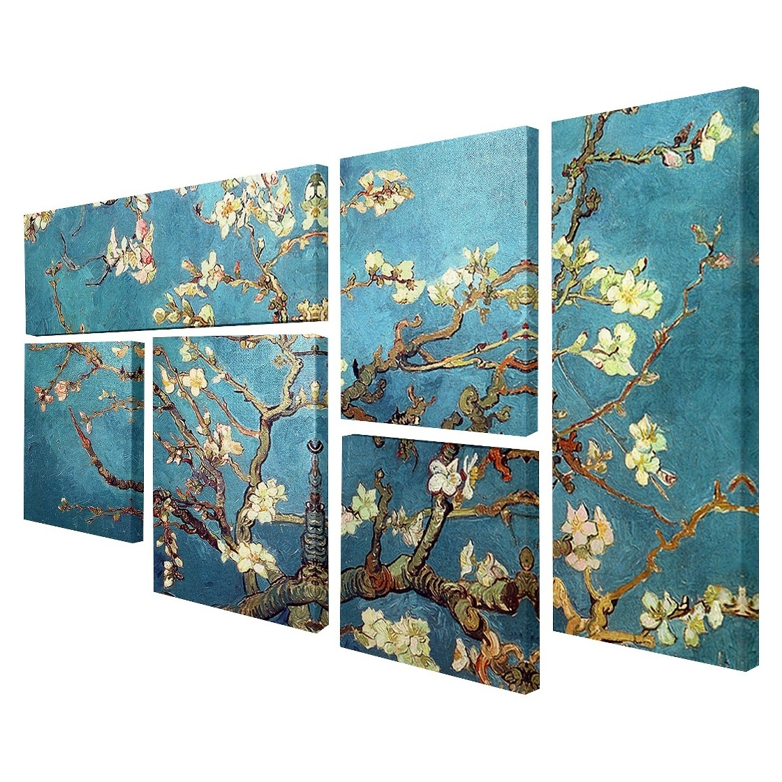 Almond Blossoms Vincent Van Gogh Wall Art For Recent Vincent Van Gogh Multi Piece Wall Art – 'almond Blossoms', (View 2 of 15)