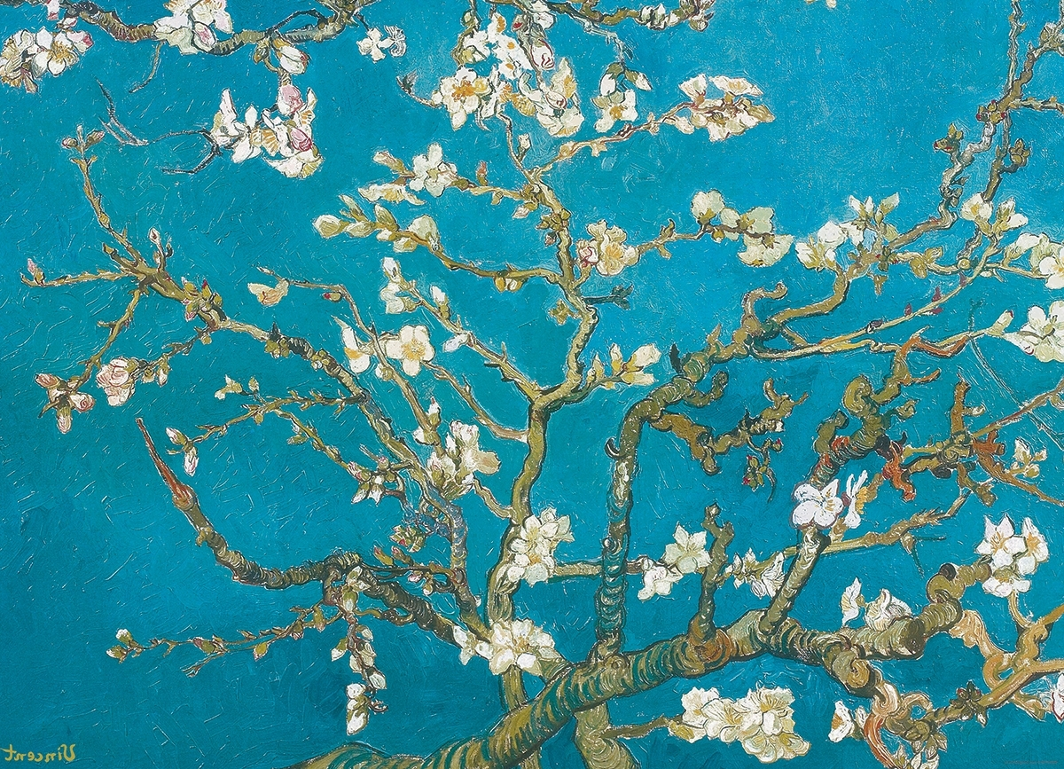 Almond Blossoms Vincent Van Gogh Wall Art Inside Favorite Almond Branchesvincent Van Gogh 1000 Piece Puzzle (View 4 of 15)
