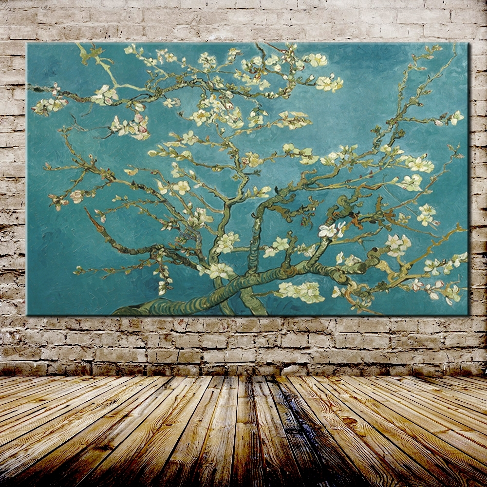 Almond Blossoms Vincent Van Gogh Wall Art Pertaining To 2017 Blossoming Almond Tree Oil Painting Of Vincent Van Gogh (View 6 of 15)