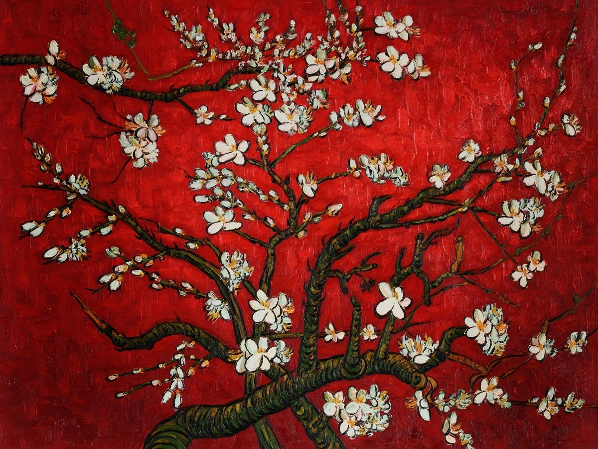 Almond Blossoms Vincent Van Gogh Wall Art Within Famous Branch Texture (View 9 of 15)