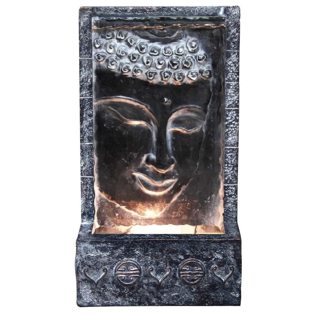 Alpine Buddha Wall Fountain With Light Zen204 – The Home Depot For Most Popular Outdoor Buddha Wall Art (View 1 of 15)