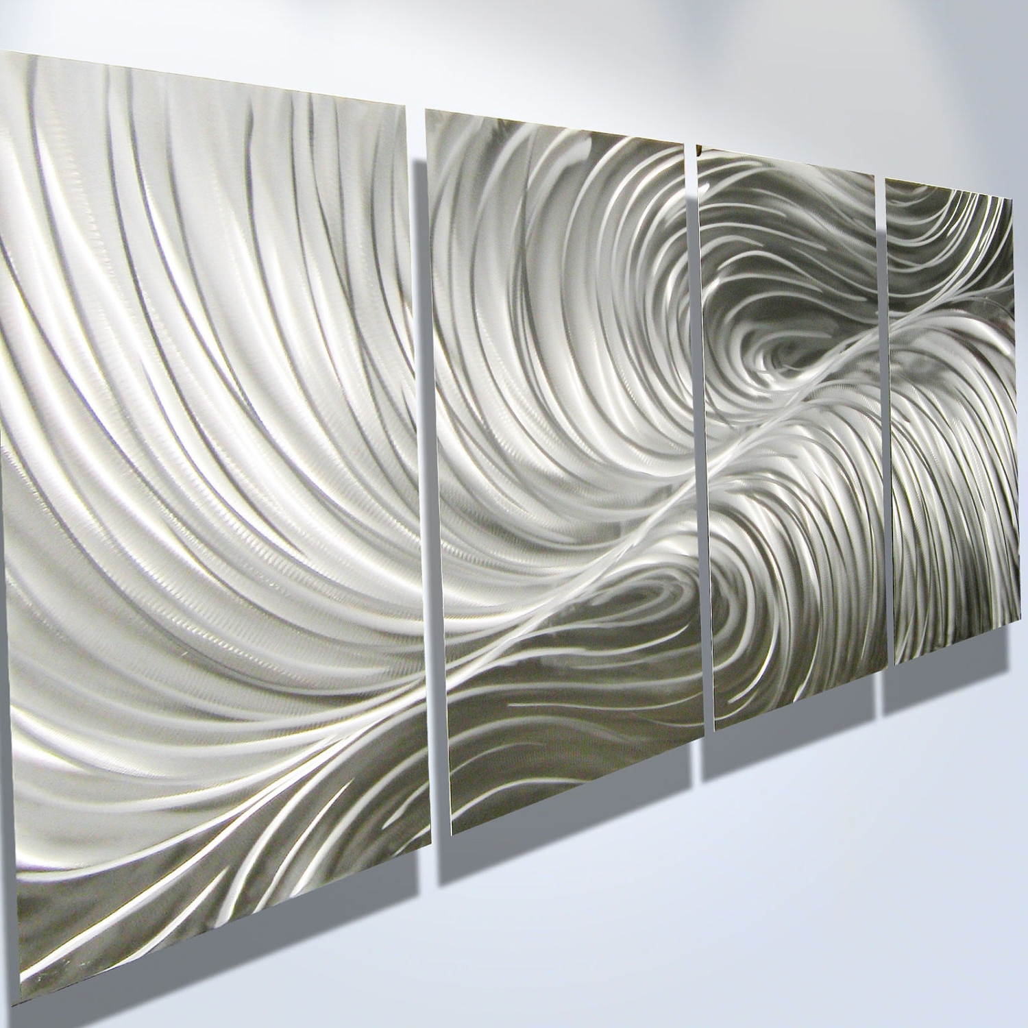 Aluminum Abstract Wall Art Regarding Widely Used Metal Wall Art Decor Abstract Aluminum Contemporary Modern (View 3 of 15)