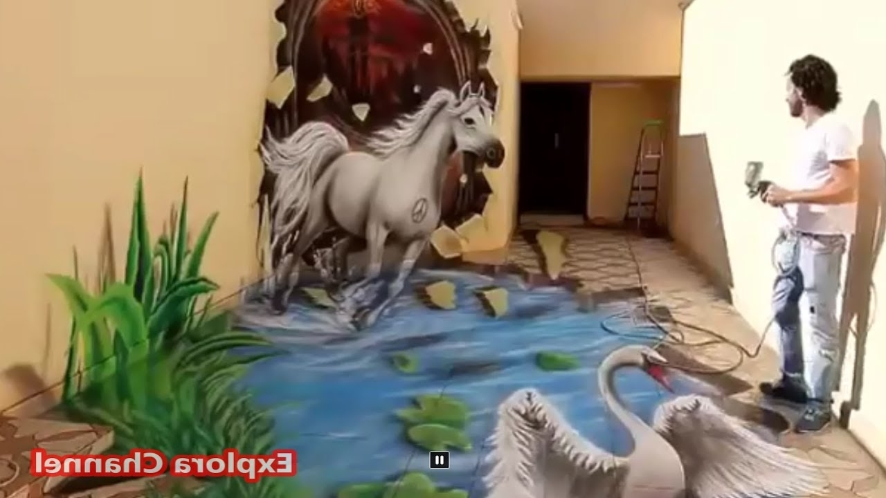Amazing Interior 3d Wall Painting That You Have Never Seen Inside Most Recent Painting 3d Wall Panels (View 12 of 15)