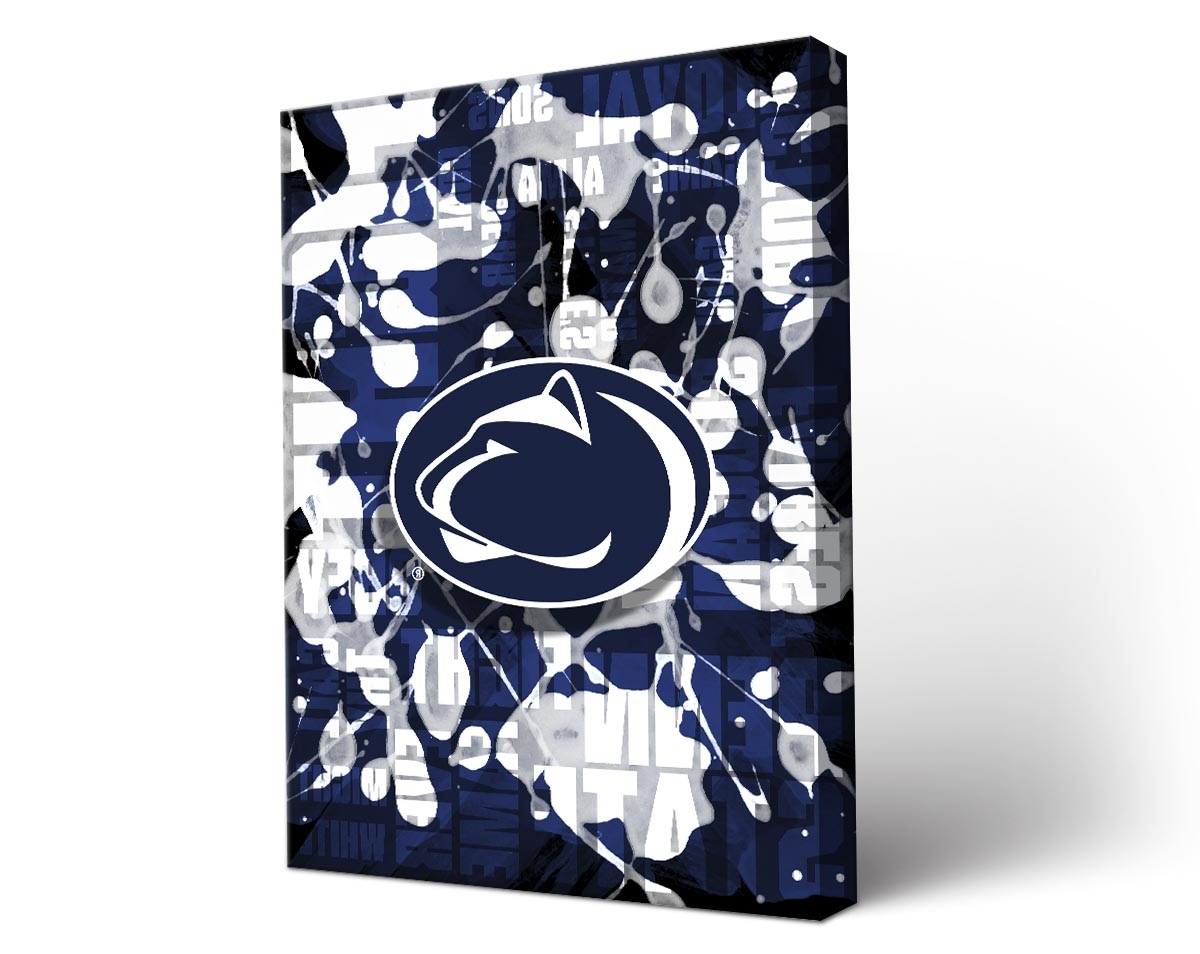Amazing Penn State Wall Art Con Fine Site Pertaining To Most Popular Penn State Wall Art (View 1 of 15)
