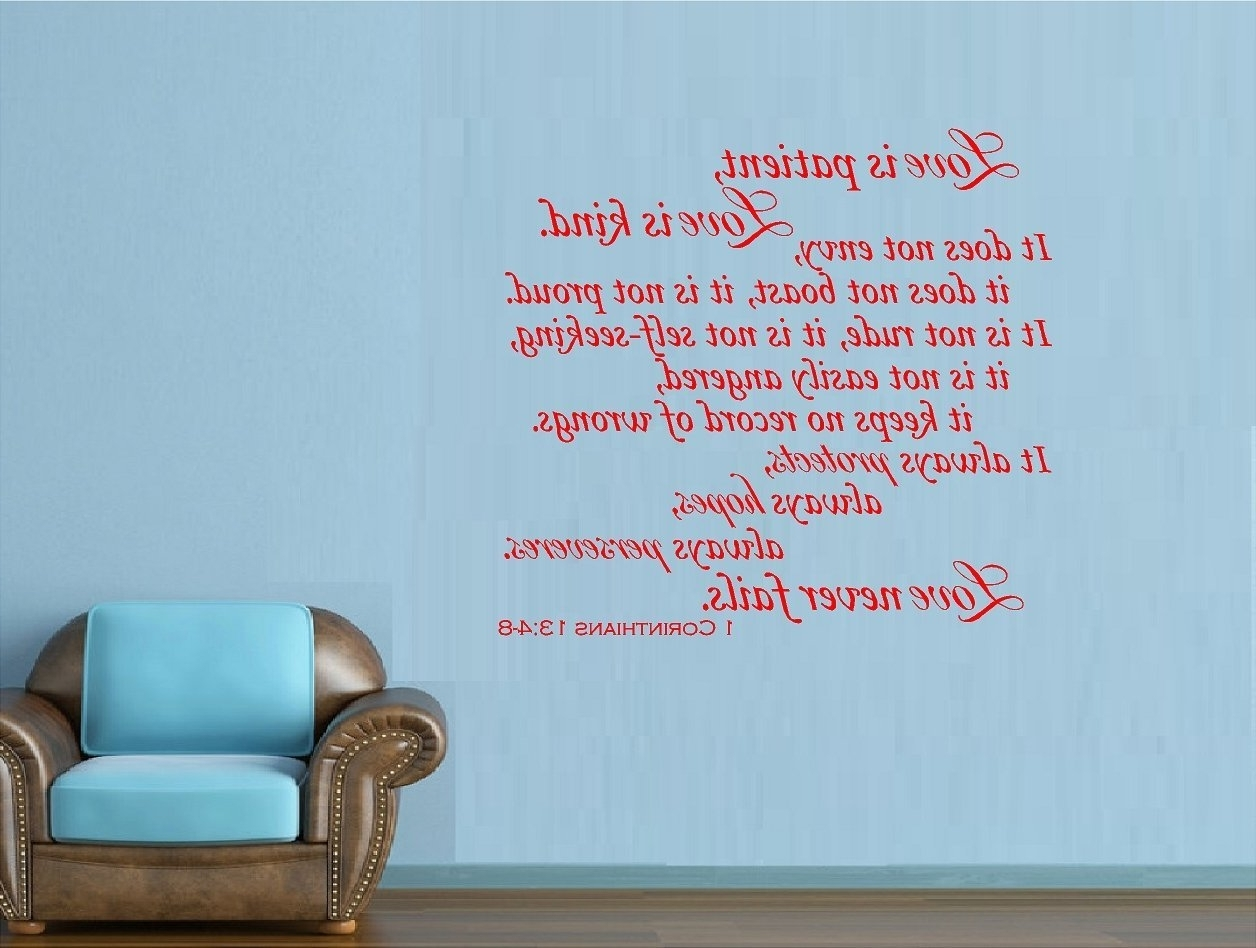 Amazon: 1 Corinthians 13:4 8 Love Is Patient Love Is Kind Love Inside Popular Love Is Patient Love Is Kind Wall Art (View 1 of 15)