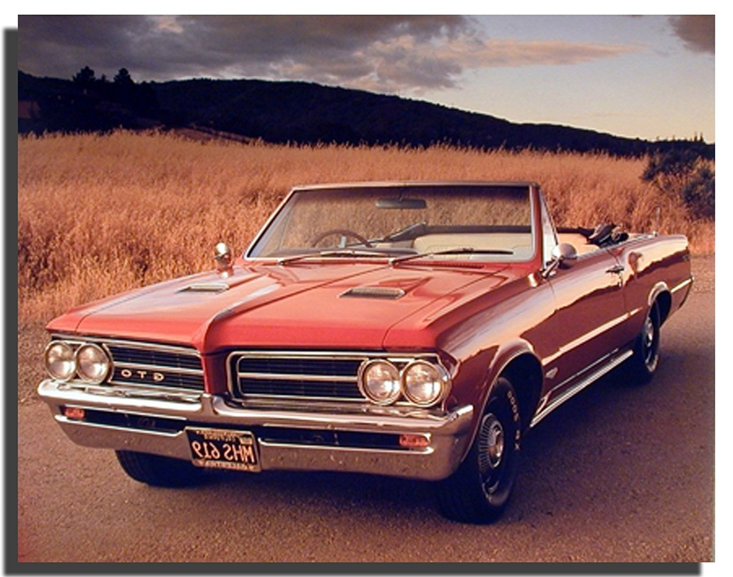 Amazon: 1964 Pontiac Gto Vintage Classic Car Wall Decor Art Intended For Recent Classic Car Wall Art (View 5 of 15)