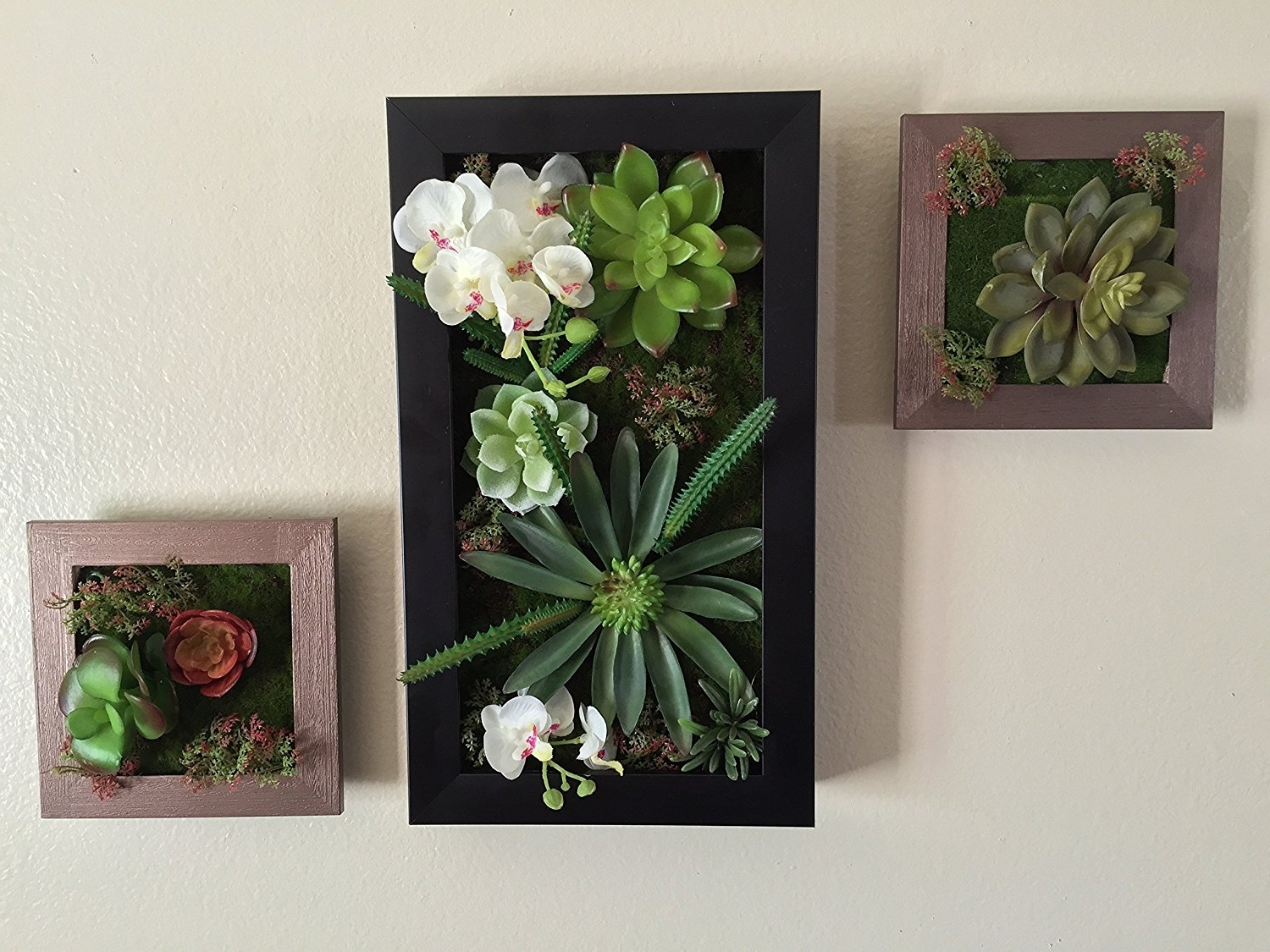 Amazon: 3D Artificial Plant Simulation Flower Frame Wall Decor Within Famous Floral & Plant Wall Art (View 2 of 15)