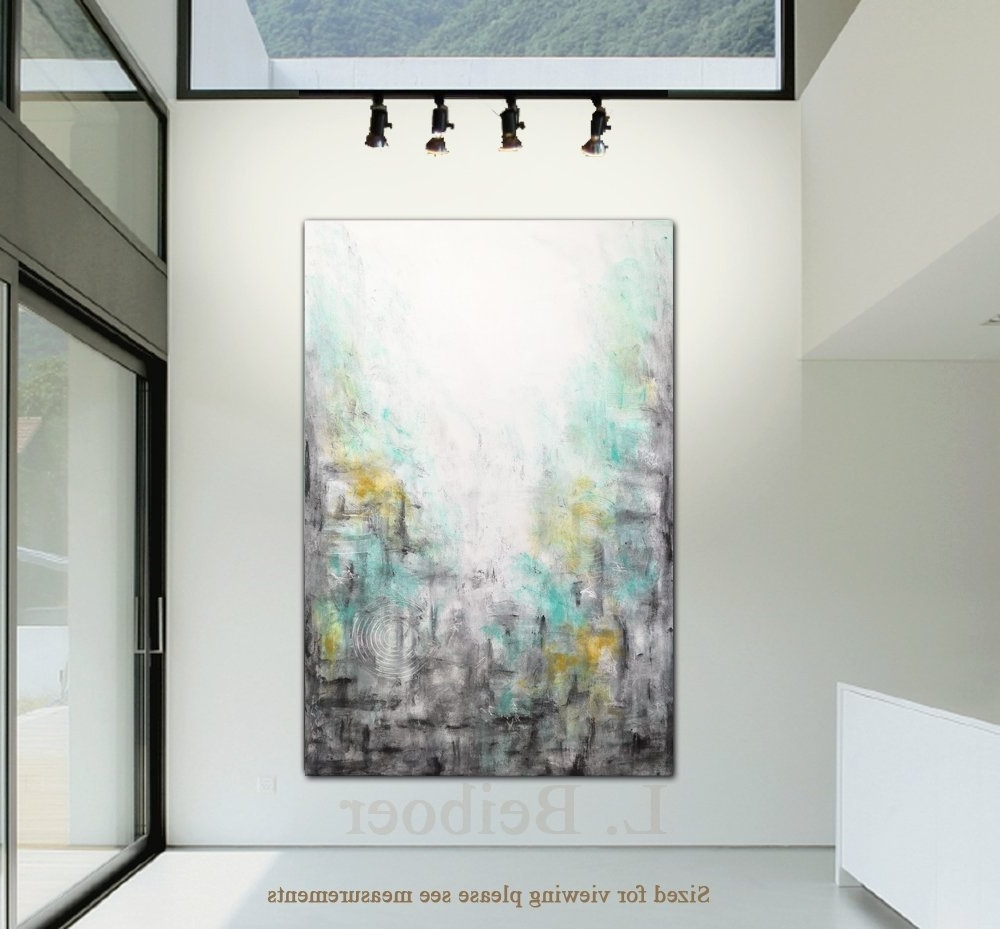 Amazon: 40 X 60 Big Abstract Painting Original Large Art Green With Regard To Widely Used Large Abstract Wall Art (View 4 of 15)