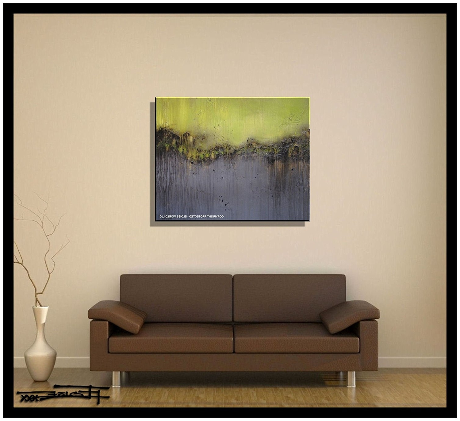 Amazon: Abstract Canvas Painting, Modern Wall Art, Limited In Most Popular Contemporary Wall Art (View 1 of 15)