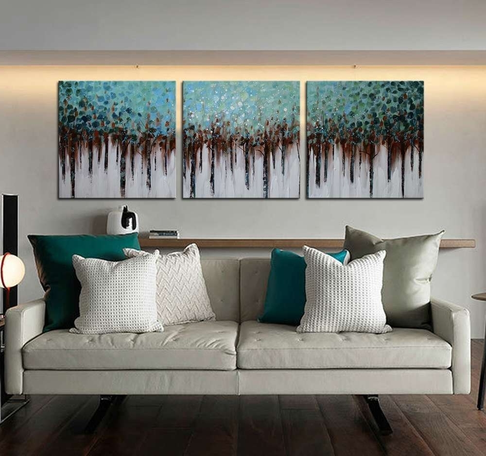 """[%Amazon: Artland 100% Hand Painted ( Unframed ) Wall Art """"blue Intended For Popular Matching Wall Art