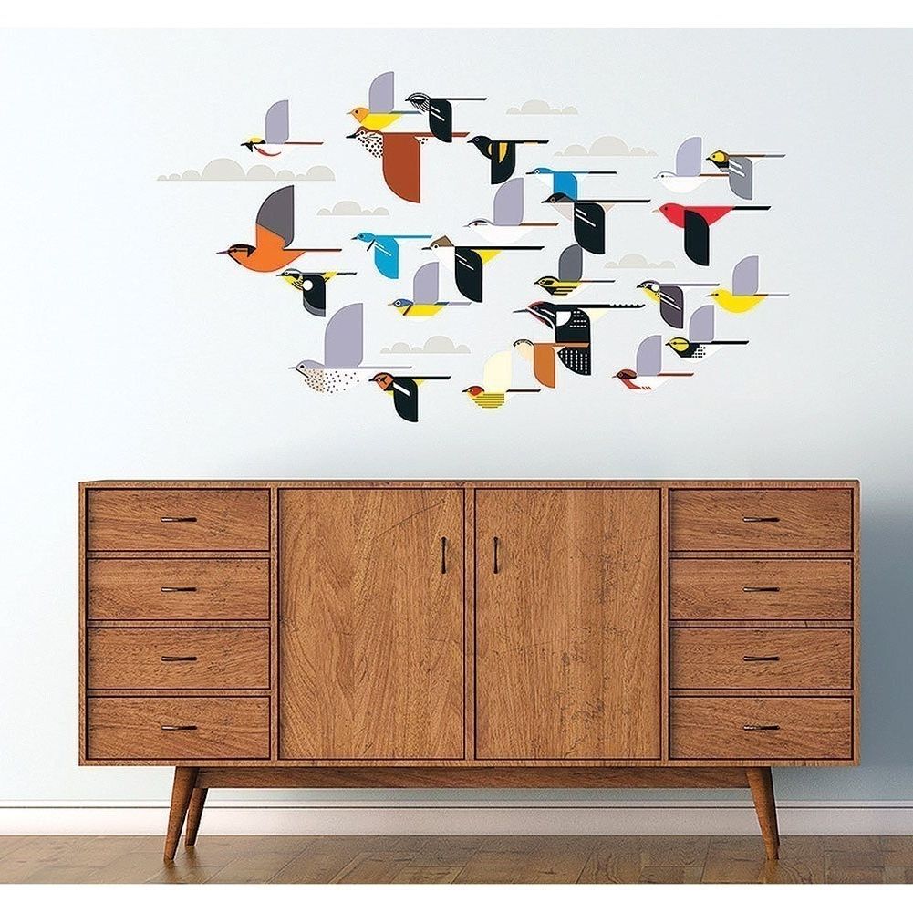 Amazon: Charley Harper: A Flock Of Birds Wall Décor: Toys & Games Within Current Flock Of Birds Wall Art (View 5 of 15)